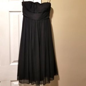 J. Crew Emily Silk chiffon Strapless Dress